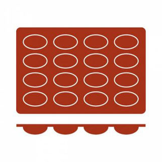 Picture of Frenti Oval Silicone Mould 9 Cup, 70 x 20 x 20