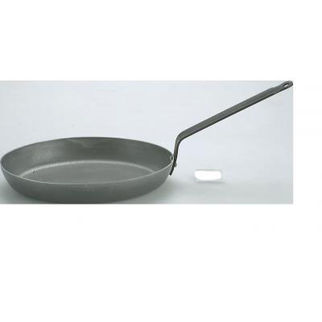 Picture of Frypan Oval 3mm Black Steel 320x230mm