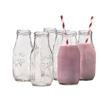 Picture of Glass Milk Bottles 6pc set 325ml