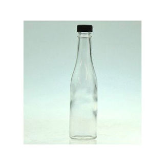 Picture of Glass Oil Bottle With Black Screw Cap 120ml