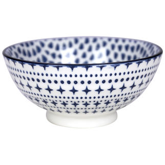 Picture of Gusta Out of the Blue Drops Round Bowl 120mm