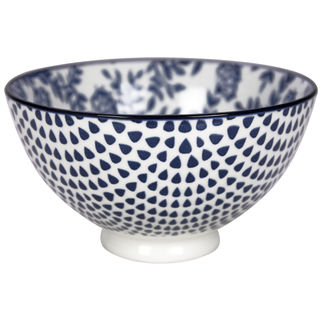 Picture of Gusta Out of the Blue Flowers Round bowl 135mm