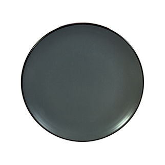 Picture of Gusta Out of the Blue Solid Round Plate Dark Grey 195mm