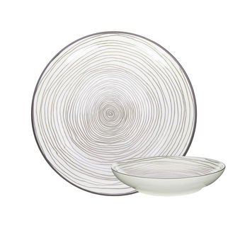 Picture of Gusta Table Tales Round Plate Grey Swirl 215mm