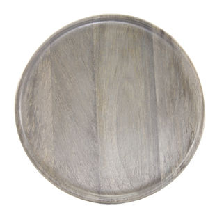 Picture of Mango Wood Serving Board Round Grey 300mm