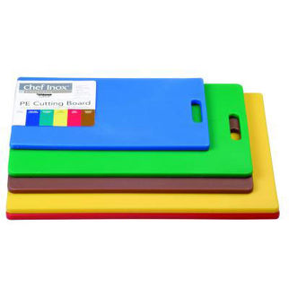 Picture of Haccp Polyethylene 12mm Cutting Boards Yellow W/HDL 450mm