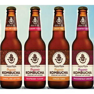 Picture of Happy Hippie Kombucha Raspberry Fusion 330ml (12)