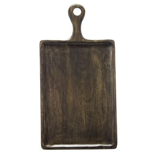 Picture of Mango Wood Serving Board Rectangular w/HDL 260x360x180mm DARK