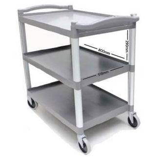 Picture of Heavy Duty 3 Tier Large Trolley BLACK