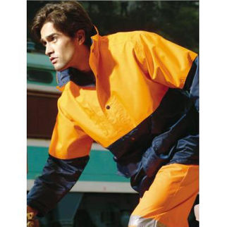 Picture of Hi Vis Mesh Lining Jacket Yellow/Navy
