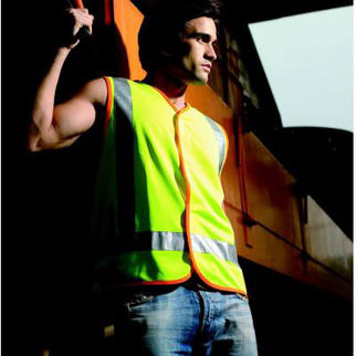 Picture of Hi Vis Vest With Reflective Tape Fluro Yellow