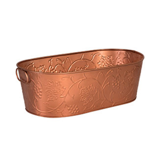 Picture of Brooklyn Beverage Tub Copper Satin with Pattern