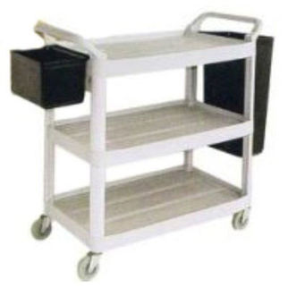 Picture of Hyklene Large 3 Tier Utility Service Cart Large Utility Bin for Cart