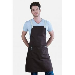 Picture of Ice Cream Bib Apron Chocolate Brown