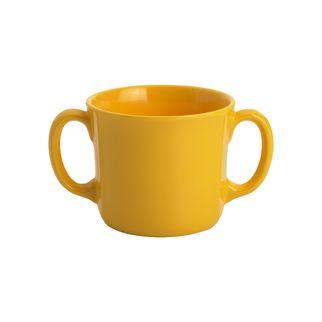 Picture of Jab Double Handled Melamine Yellow Mug 250ml