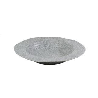 Picture of JAB Stone Grey Effect Ripple Round Organic Bowl 150 x 60mm
