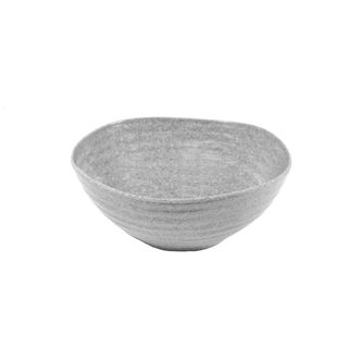 Picture of JAB Stone Grey Ripple Effect Round Organic Bowl 200 x 85mm