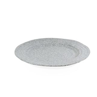 Picture of JAB Stone Grey Ripple Effect Round Rim Plate 250mm