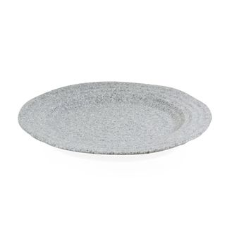 Picture of JAB Stone Ripple Effect Round Rim Plate Grey 220mm
