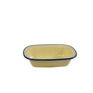 Picture of Jab Vintage Rectangular Server Yellow/Blue 200 x 145mm