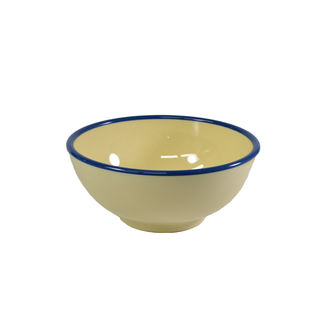 Picture of Jab Vintage Round Bowl Yellow/Blue 175mm
