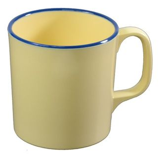 Picture of Jab Vintage Yellow/Blue Rim Enamel Look Mug 300ml (15/8)