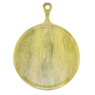 Picture of Mango Wood Serving Board Round w/HDL 300x400x15mm LIME