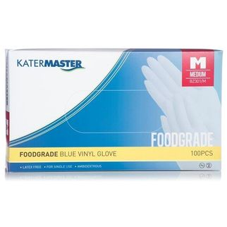 Picture of Katermaster Foodgrade Vinyl Gloves Extra Large Pk 100