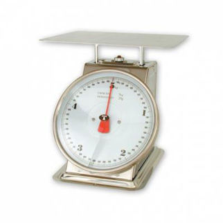 Picture of Kitchen Scales Stainless Steel Body up to 20kg. with ingredient bowl.