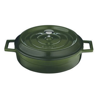 Picture of Lava Cast Iron Low Casserole Green 240mm