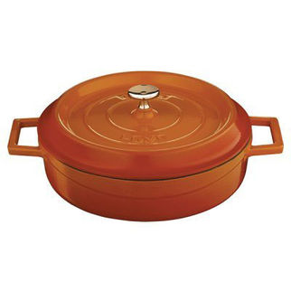 Picture of Lava Cast Iron Low Casserole Orange 280mm