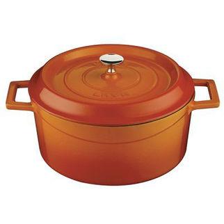 Picture of Lava Cast Iron Round Casserole Orange 200mm