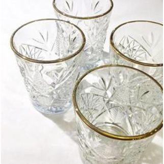 Picture of Libbey Hobstar Gold Rim 355ml