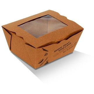 Picture of Lunch Box With Pla Window Small Carton 200