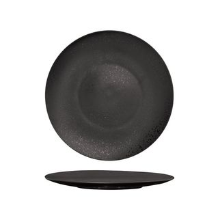 Picture of Luzerne Lava Black Round Flat Coupe Plate 275mm