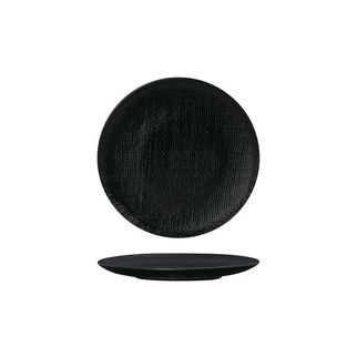 Picture of Luzerne Linen Black Round Flat Coupe Plate 180mm