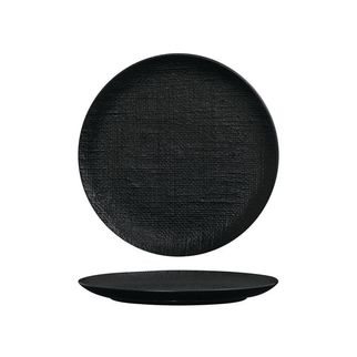 Picture of Luzerne Linen Black Round Flat Coupe Plate 260mm