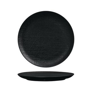 Picture of Luzerne Linen Black Round Flat Coupe Plate 285mm