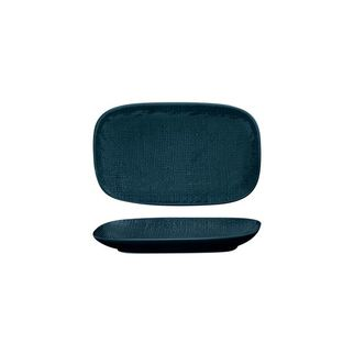 Picture of Luzerne Linen Navy Blue Oblong Plate 215 x 135mm