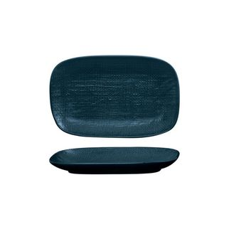 Picture of Luzerne Linen Navy Blue Oblong Plate 265x165mm