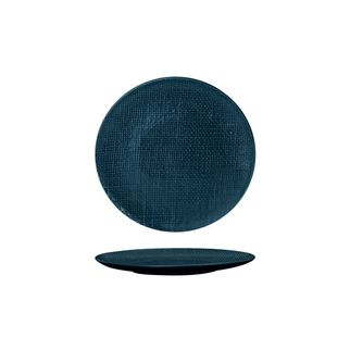 Picture of Luzerne Linen Navy Blue Round Flat Coupe Plate 180mm