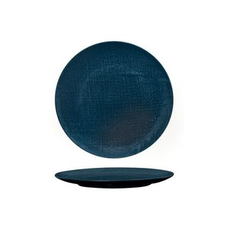 Picture of Luzerne Linen Navy Blue Round Flat Coupe Plate 210mm