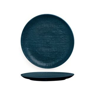 Picture of Luzerne Linen Navy Blue Round Flat Coupe Plate 260mm