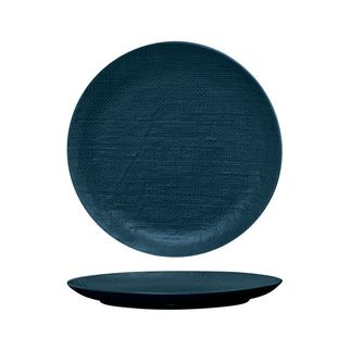 Picture of Luzerne Linen Navy Blue Round Flat Coupe Plate 285mm
