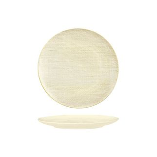 Picture of Luzerne Linen Reactive White Round Flat Coupe Plate 210mm