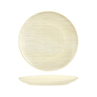 Picture of Luzerne Linen Reactive White Round Flat Coupe Plate 285mm