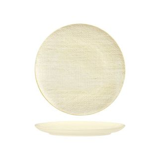Picture of Luzerne Linen Reactive White Round Flat Plate 260mm