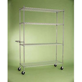 Picture of Mobile Adjustable Chrome Shelving  Chrome