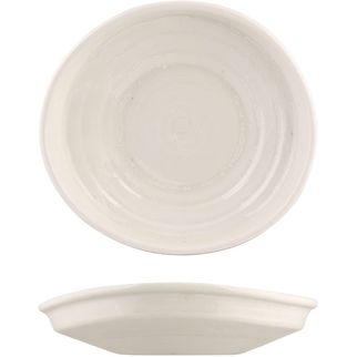 Picture of Moda Porcelain Snow Organic Plate 205x190mm