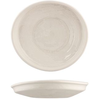 Picture of Moda Porcelain Snow Organic Plate 225x205mm